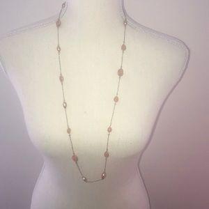 Banana Republic orange resin necklace